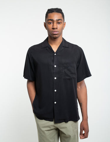 Portuguese Flannel Dogtown Short Sleeve Shirt Black