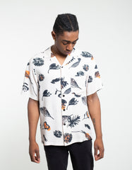 Portuguese Flannel Fall Short Sleeve Shirt Off White Multi