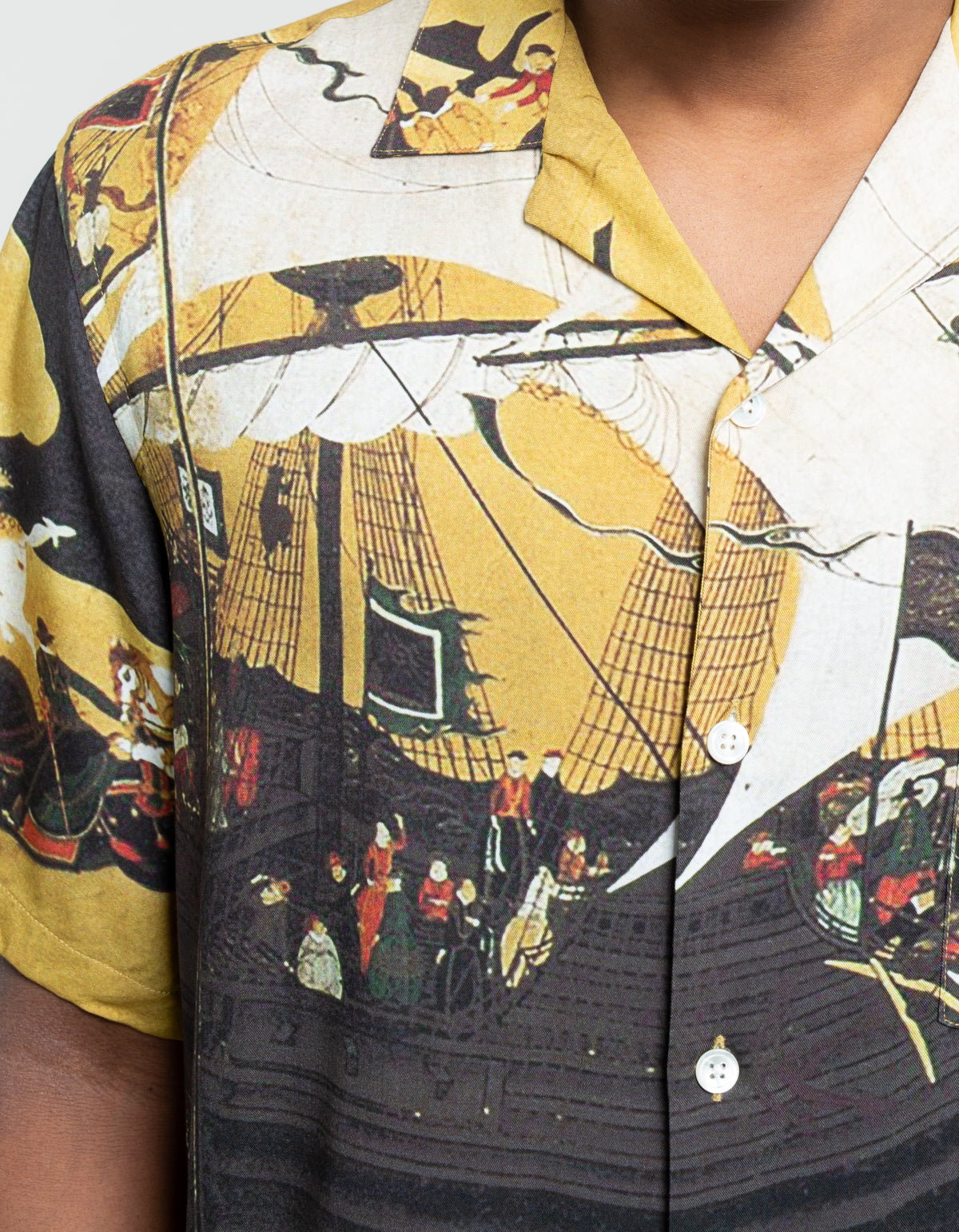 Portuguese Flannel Japan 1543 Short Sleeve Shirt Yellow Multi