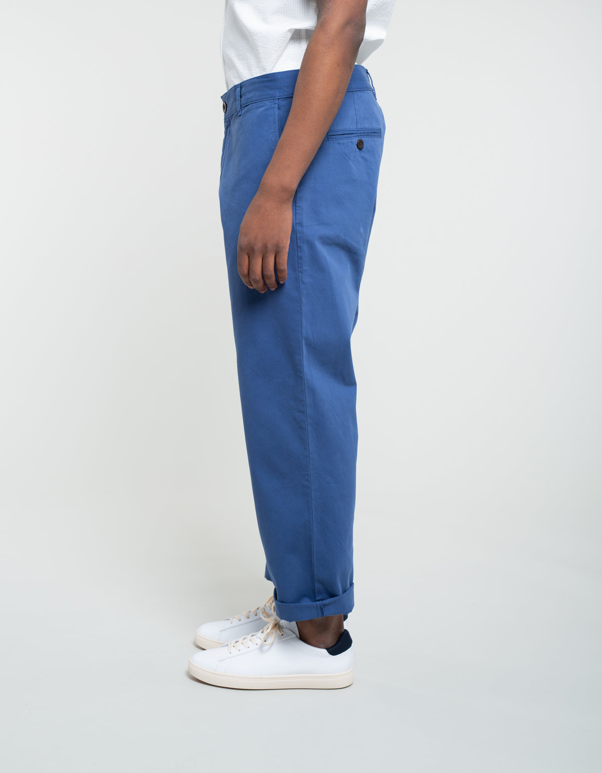Portuguese Flannel Mini Golf Trousers Blue