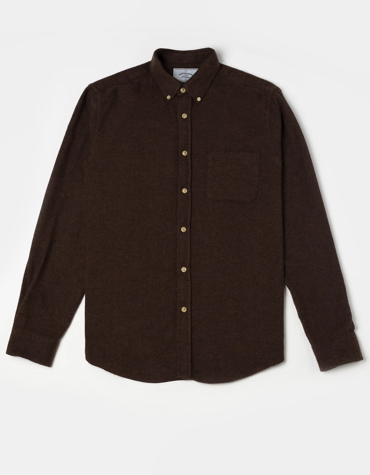 Portuguese Flannel Teca Long Sleeve Shirt Brown