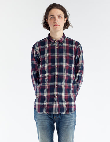 Portuguese Flannel Campanha Flannel Navy Red
