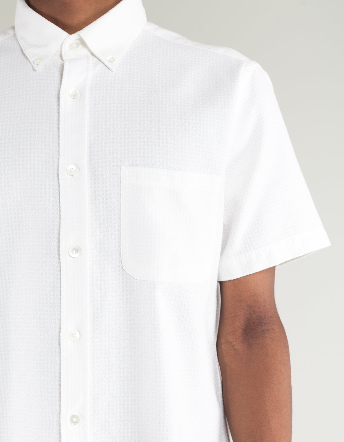 Portuguese Flannel Dourada Short Sleeve Shirt White