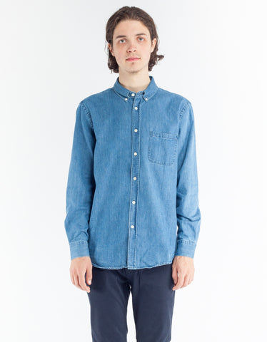Portuguese Flannel Ganga Shirt Denim 2 Wash