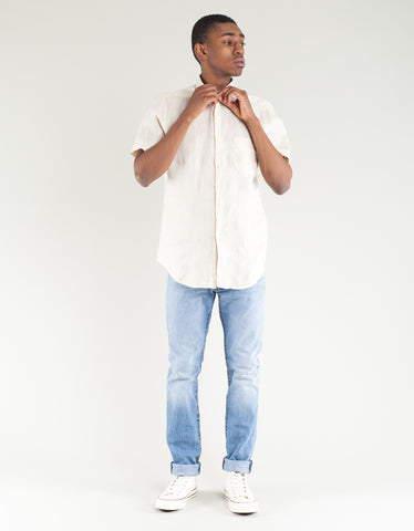 Portuguese Flannel Linen Short Sleeve Shirt Raw