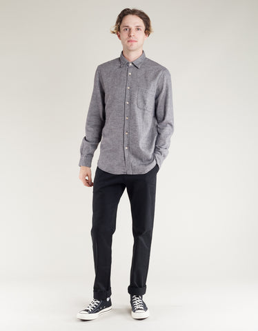 Portuguese Flannel Teca LS Shirt Light Grey