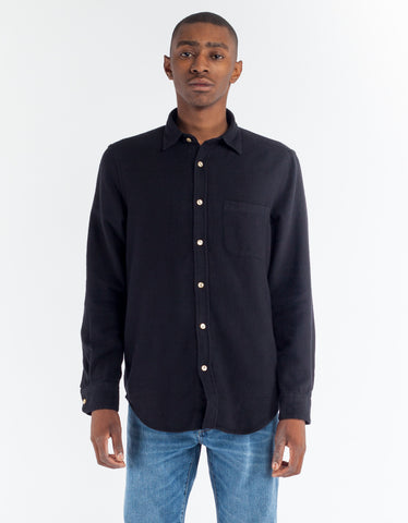 Portuguese Flannel Teca Shirt Black