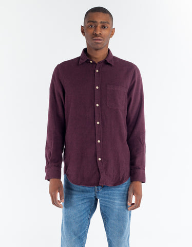 Portuguese Flannel Teca Shirt Bordeaux