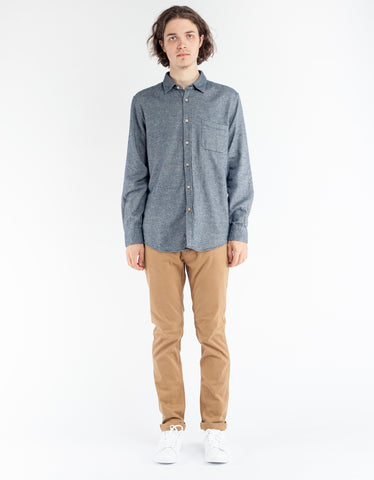 Portuguese Flannel Teca Shirt Grayed Blue