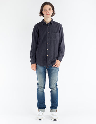 Portuguese Flannel Teca Shirt Grey
