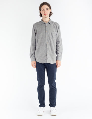 Portuguese Flannel Teca Shirt Light Grey