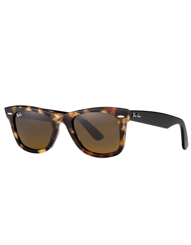 Ray-Ban Wayfarer Sunglasses Spotted Brown Havana - Still Life
