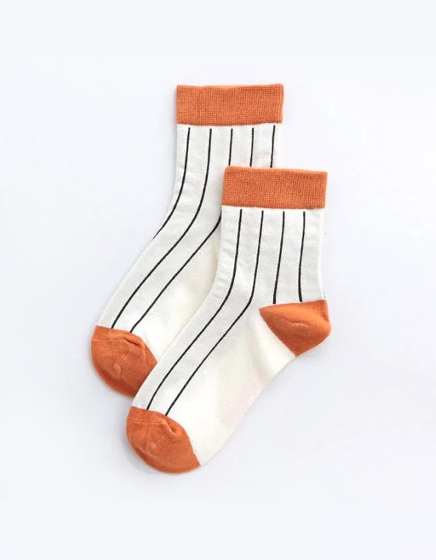 RUBS Enya Socks in Burnt Orange