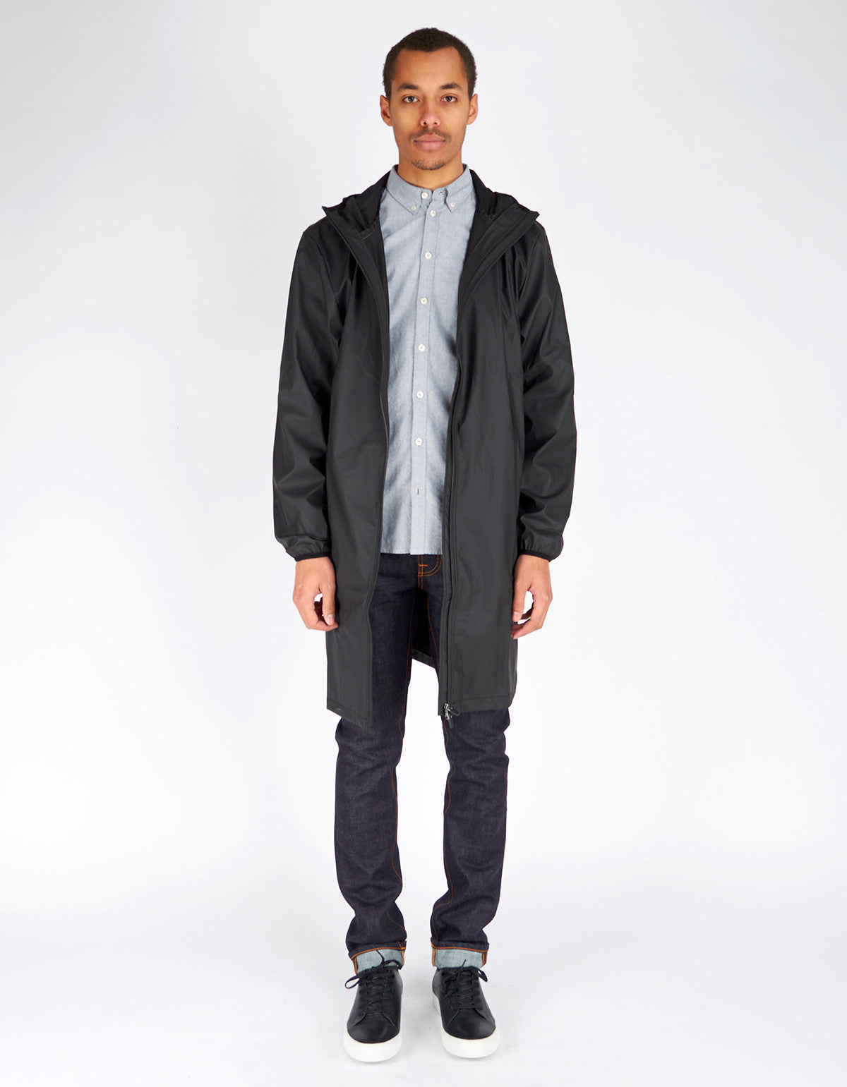 Rains Men's Base Jacket Long Black - Still Life - 2