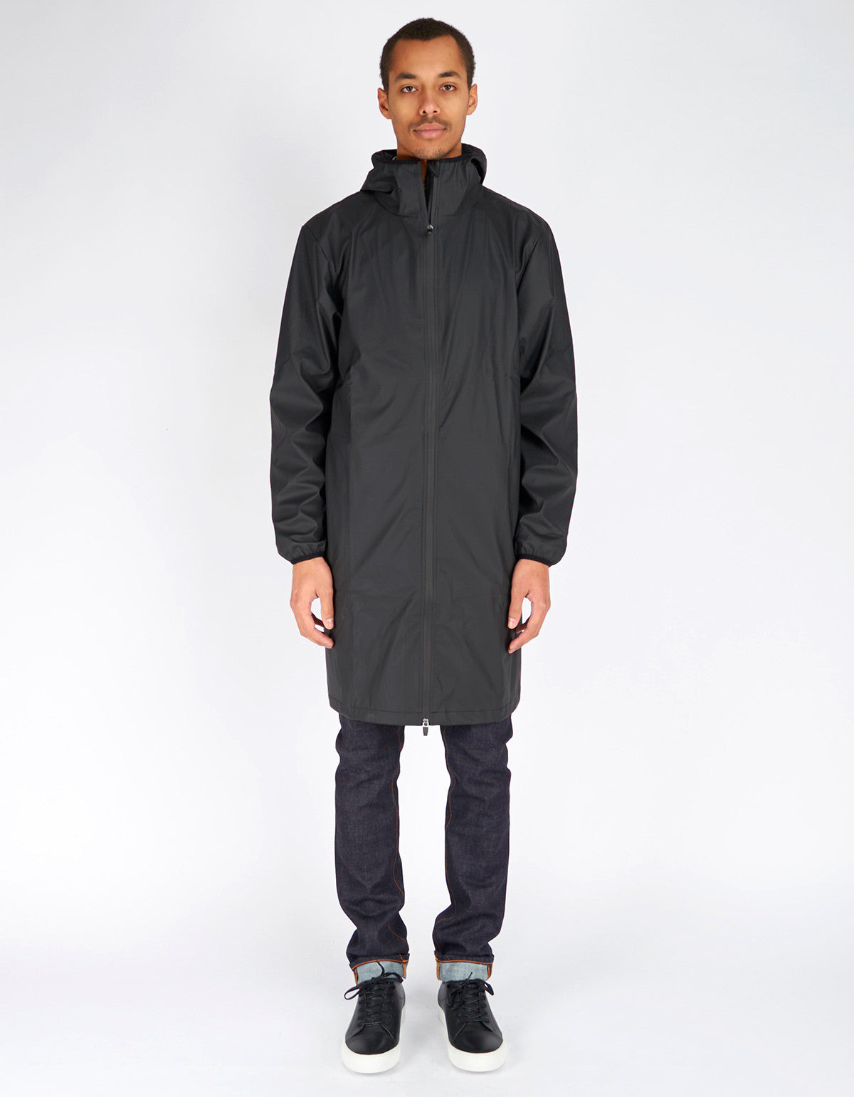 Rains Men's Base Jacket Long Black - Still Life - 1