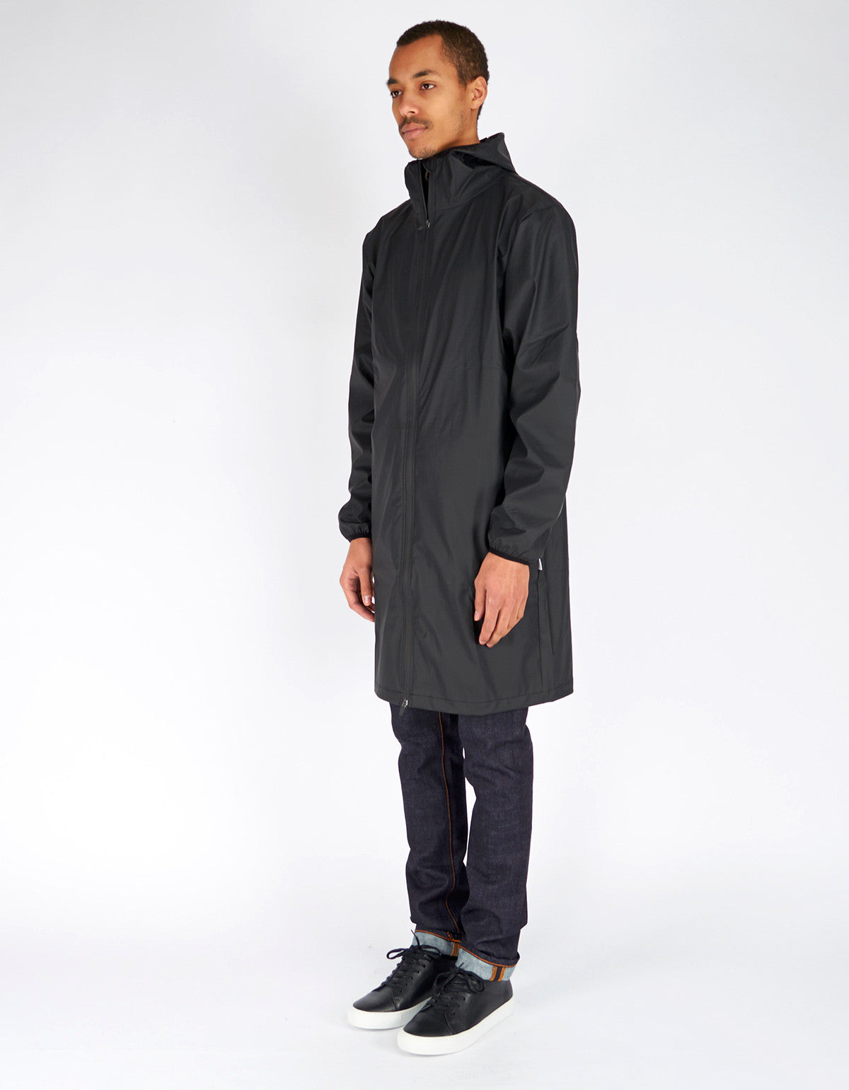 Rains Men's Base Jacket Long Black - Still Life - 3