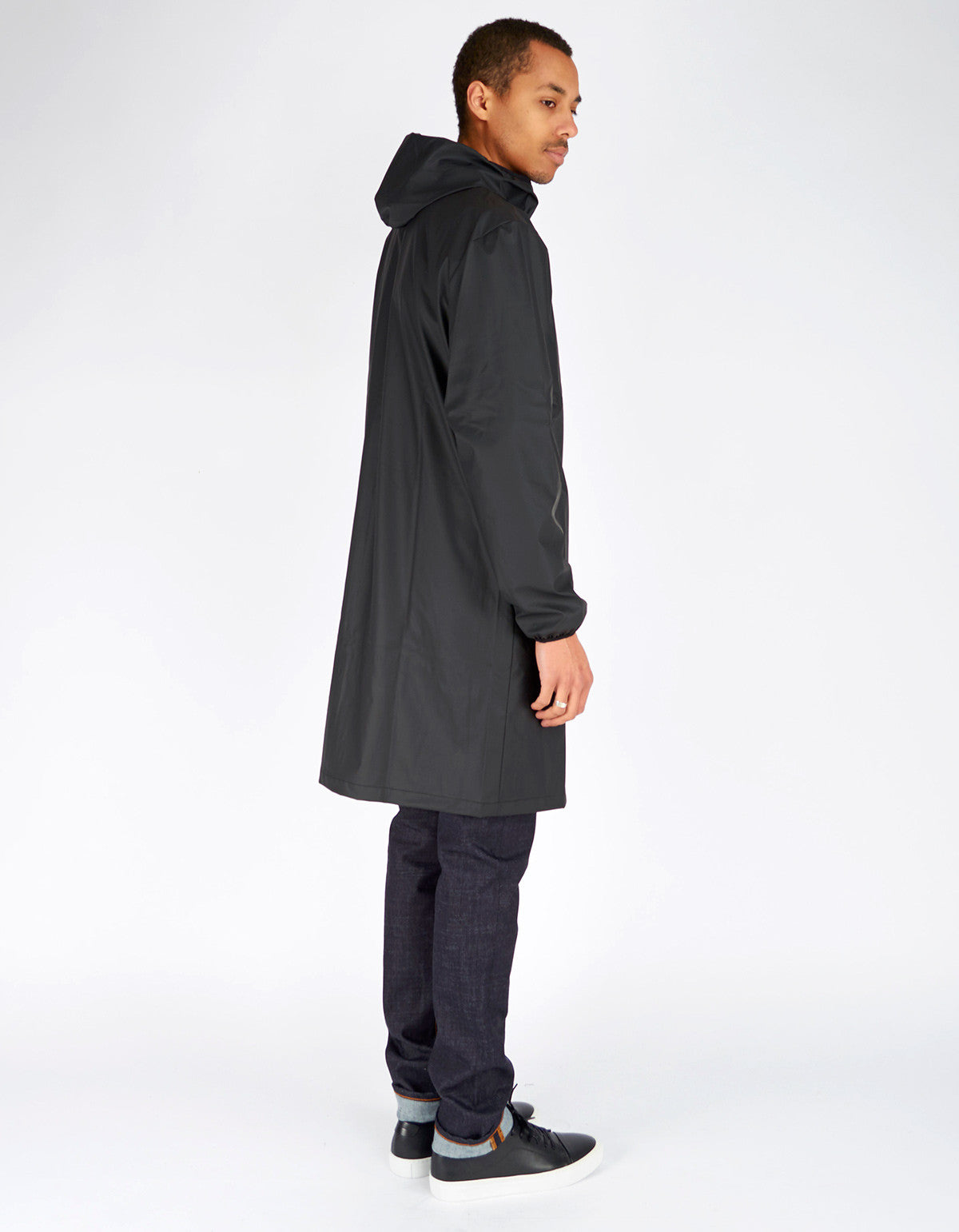 Rains Men's Base Jacket Long Black - Still Life - 4