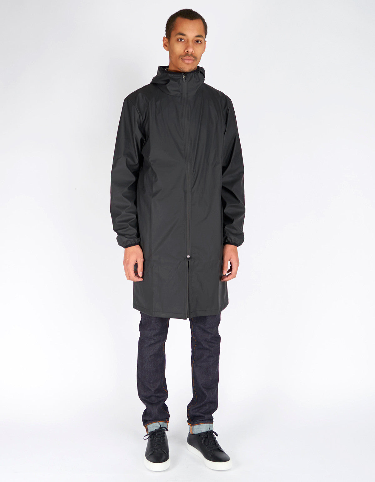 Rains Men's Base Jacket Long Black - Still Life - 5