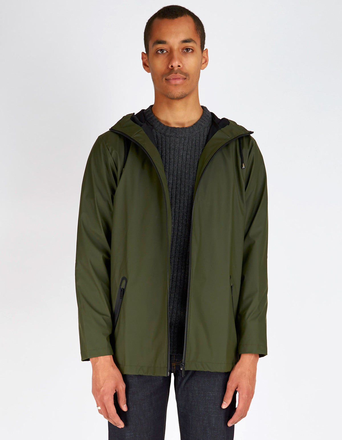 Rains Breaker Jacket Men's Green - Still Life - 1