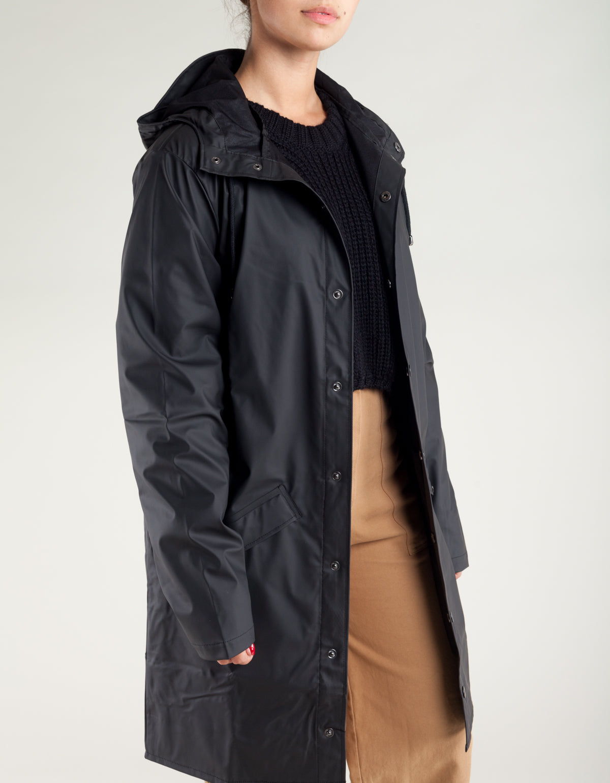Rains Women's Long Jacket Black