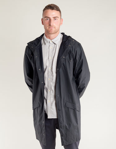Rains Men's Long Jacket Men's Black