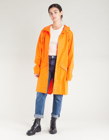 Rains Women's Long Jacket Fire Orange