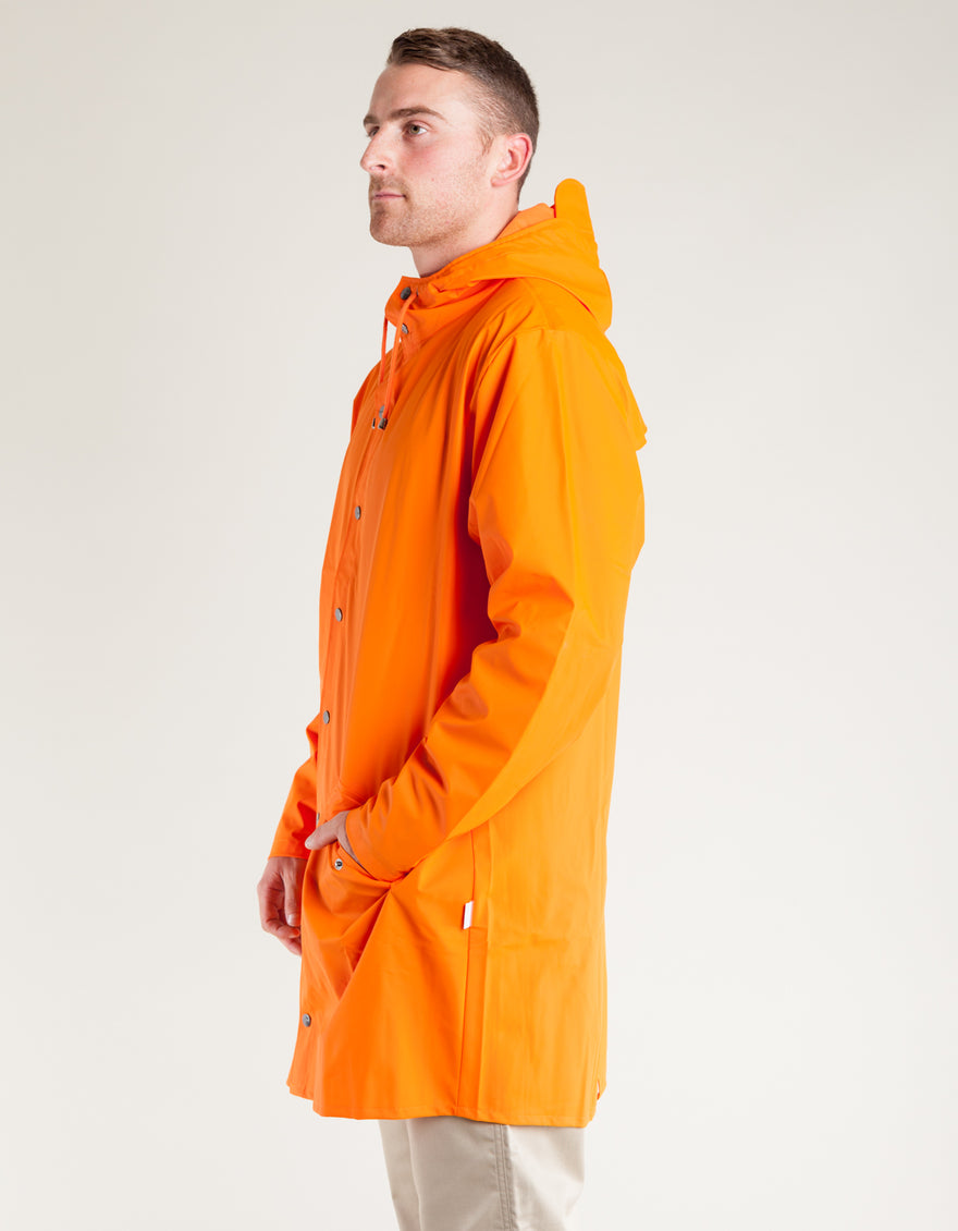 Orange Jacket Long Rains Men's Fire vHXPI
