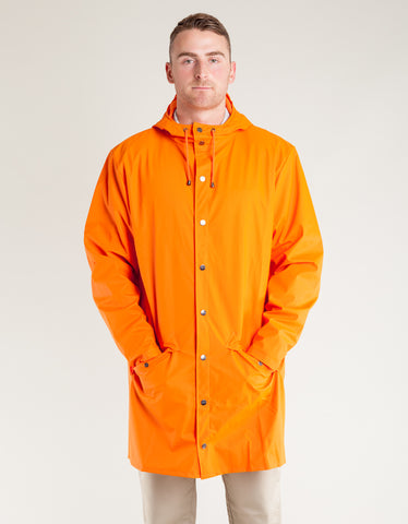 Rains Men's Long Jacket Fire Orange
