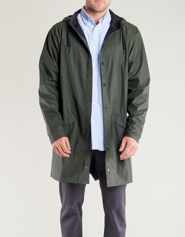 Rains Men's Long Jacket Green