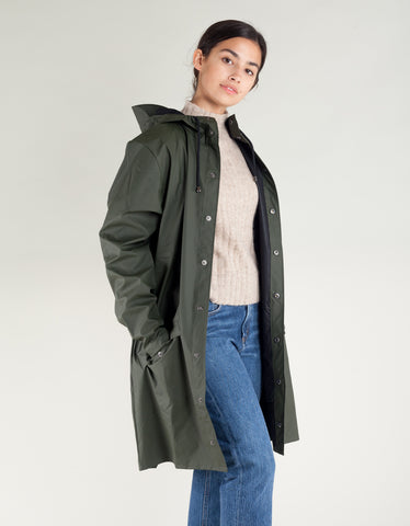Rains Women's Long Jacket Green