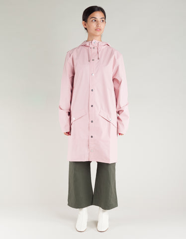 Rains Women's Long Jacket Rose