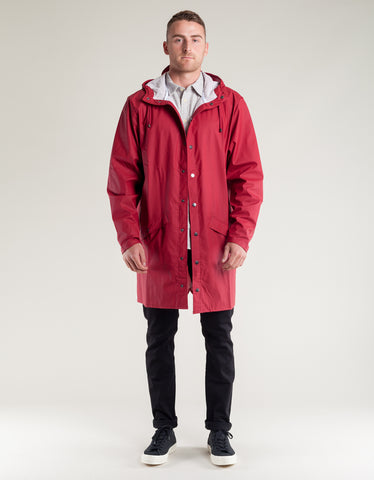 Rains Men's Long Jacket Men's Scarlet