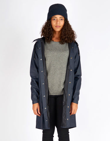 Rains Women's Long Jacket Blue - Still Life - 1