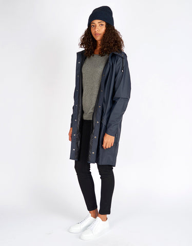 Rains Women's Long Jacket Blue - Still Life - 2