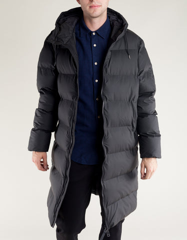 Rains Men's Long Puffer Jacket Black