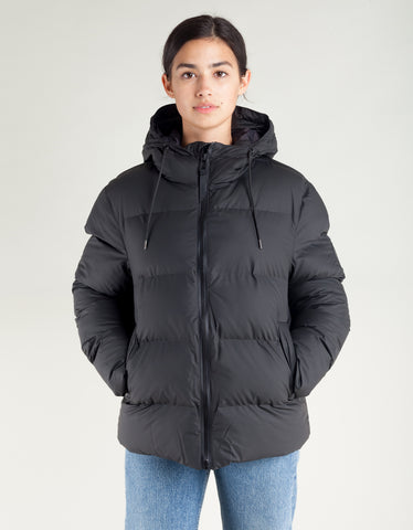 Rains Women's Puffer Jacket Black