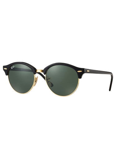 Ray-Ban Clubround Sunglasses Black Green Classic G-15