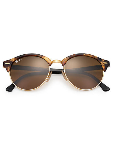 Ray-Ban Clubround Sunglasses Tortoise Black Brown Classic B-15
