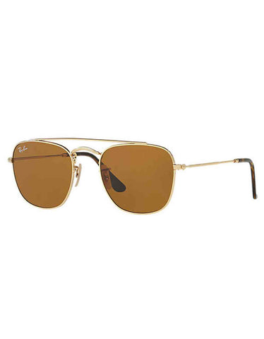 Ray-Ban Metal Sunglasses Gold Brown Classic B-15