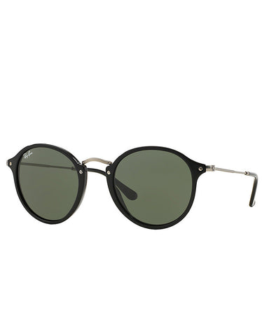 Ray-Ban Round Fleck Sunglasses Black - Still Life - 1