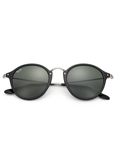 Ray-Ban Round Fleck Sunglasses Black - Still Life - 2