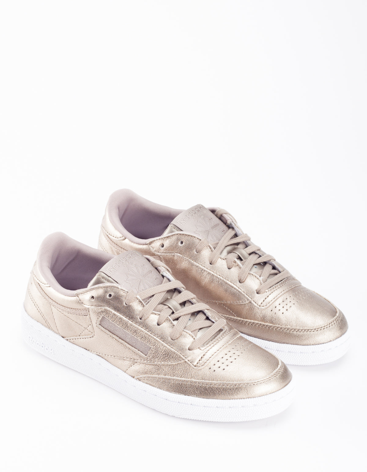 Reebok Club C 85 Melted Metal Pearl Metallic Grey Gold White