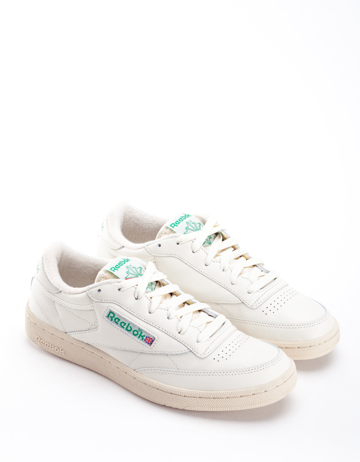 Reebok Club C 85 Vintage Chalk Paperwhite Glen Green