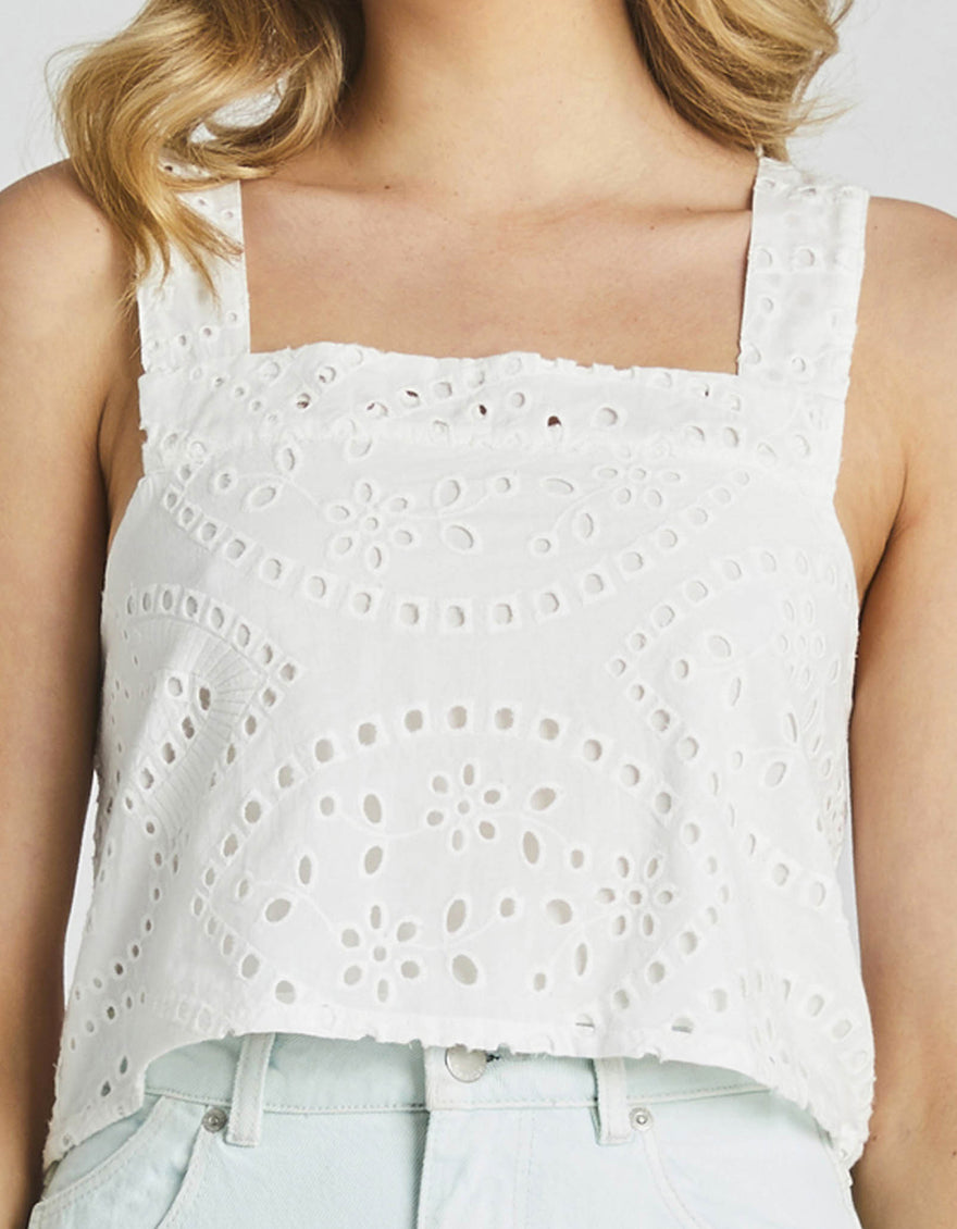 Rolla's Stephanie Lace Camisole White