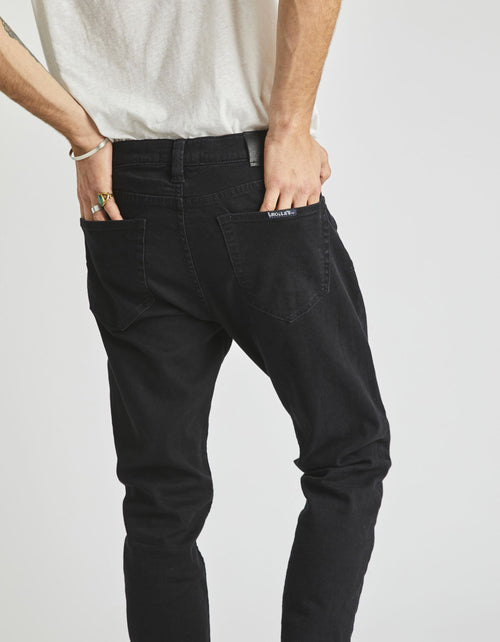 Rolla's Tim Slim Jeans in Black Raven