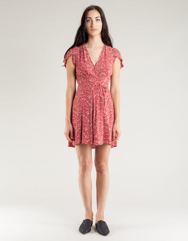 Rollas Dancer Wrap Dress Chateau Red