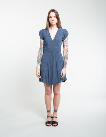Rollas Dancer Wrap Dress Mini Spot Navy White