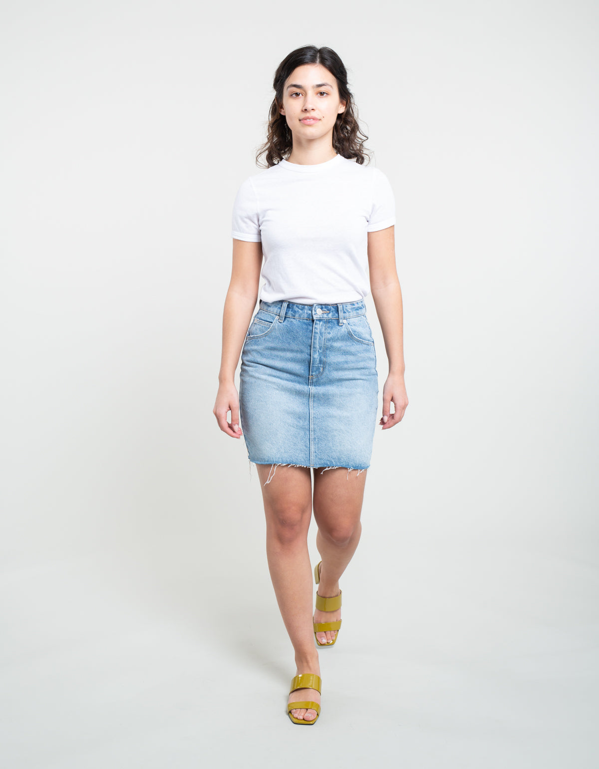 Rollas High Mini Skirt Pamela Blue