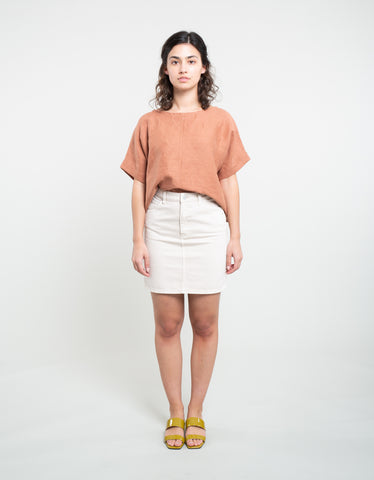 Rollas High Mini Skirt Vanilla