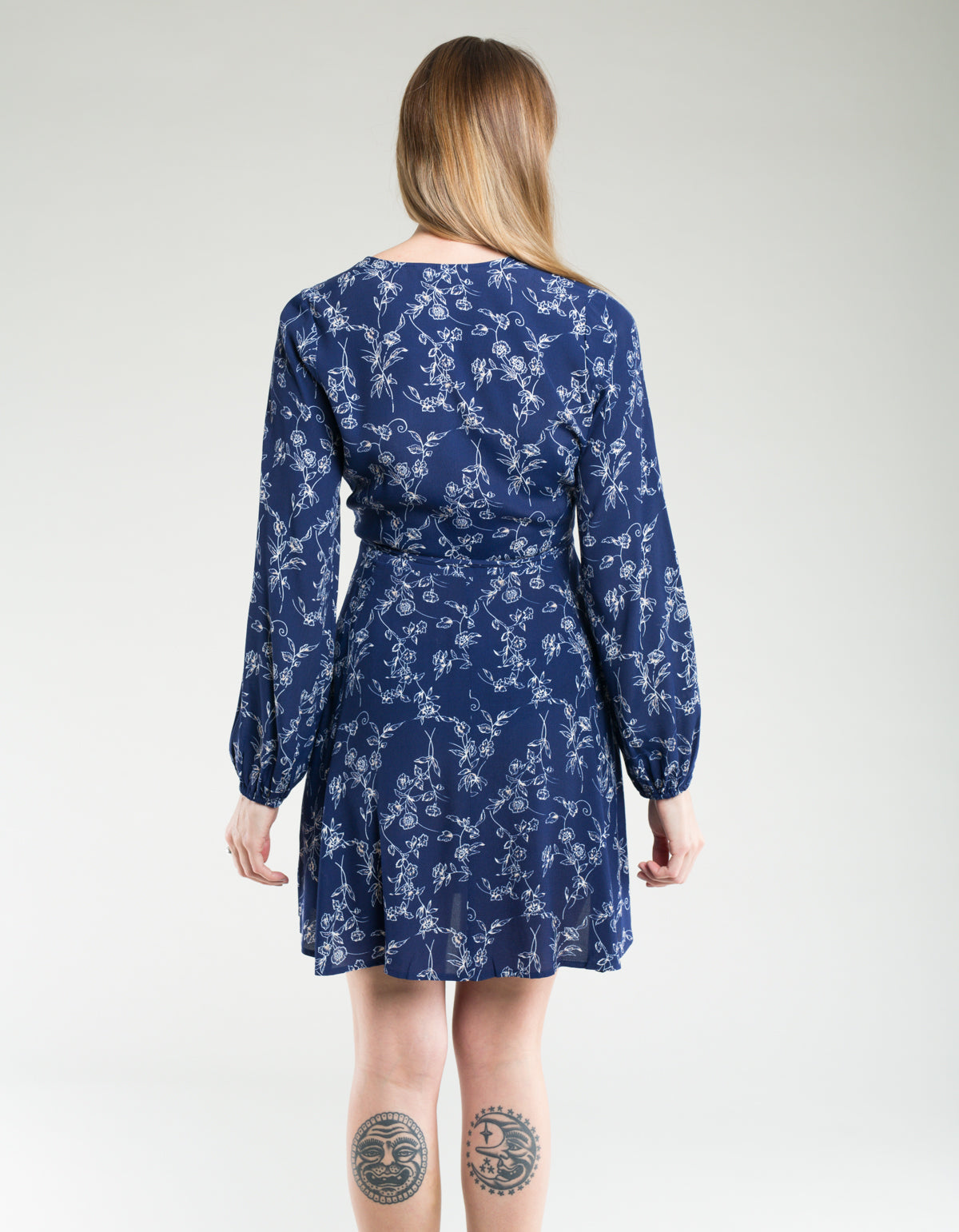 Rollas Lily Dahlia Wrap Dress Navy